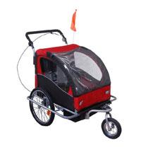Fahrradkindersitz oder Kinderfahrradanhänger